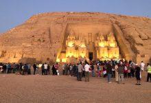 صورة تعامد الشمس على قدس أقداس معبد الملك رمسيس الثاني