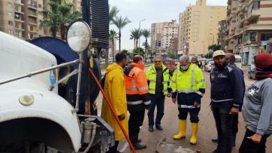 صورة رسلان: يتفقد المناطق الساخنة بمحافظة الإسكندرية للتأكد من سحب تجمعات مياه الأمطار