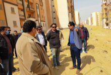 """صورة مسئولو جهاز """"حدائق أكتوبر"""" يتفقدون المشروعات المختلفة بالمدينة"""