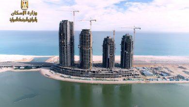 صورة الجزار :  الانتهاء من الهيكل الخرسانى لـ15 برجاً بالمنطقة الشاطئية بمدينة العلمين الجديدة.