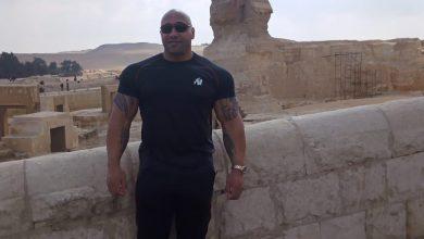صورة منطقة آثار الهرم تستقبل دينيس جميس مدرب الأجسام