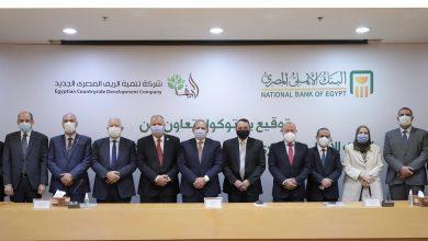 صورة البنك الأھلي المصري یوقع بروتوكول مع شركة تنمیة الریف المصري