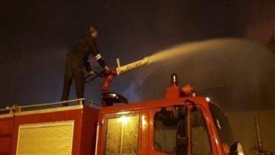 صورة السيطرة علي حريق محدود نشب خلف مسجد أحمد ابن طولون بحي السيدة زينب.