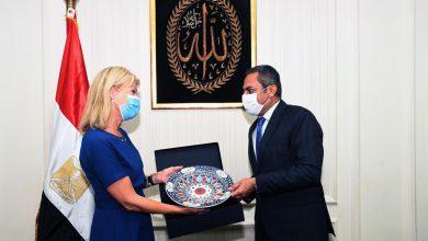 صورة نائب وزير الإسكان يلتقي وزيرة التجارة السويدية لبحث التعاون  بين الجانبين فى مجال النقل الذكى