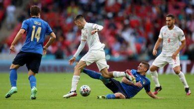 صورة بالفيديو تأهل اسبانيا الي نهائي دوري الأمم الأوروبية بعد الفوز علي ايطاليا 1/2